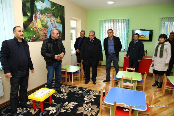Бако Саакян посетил Мартакертский район